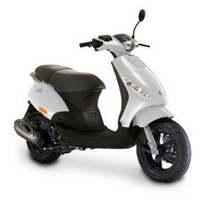 Piaggio Zip scooter - wit - Mooties Dronten
